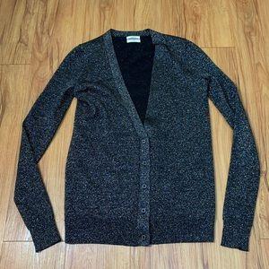 Madewell Wallace Wool Metallic ButtonDown Cardigan